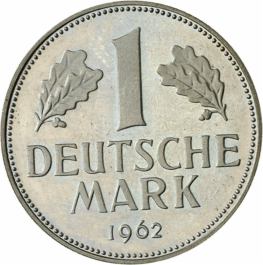 DE 1 Deutsche Mark 1962 G