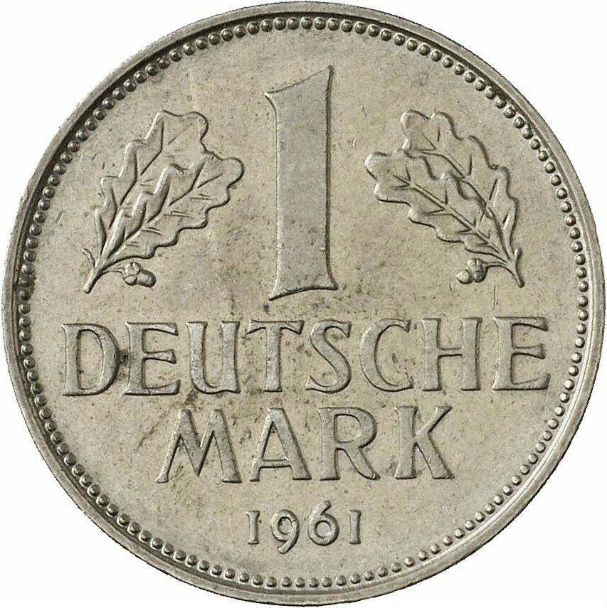 DE 1 Deutsche Mark 1961 D