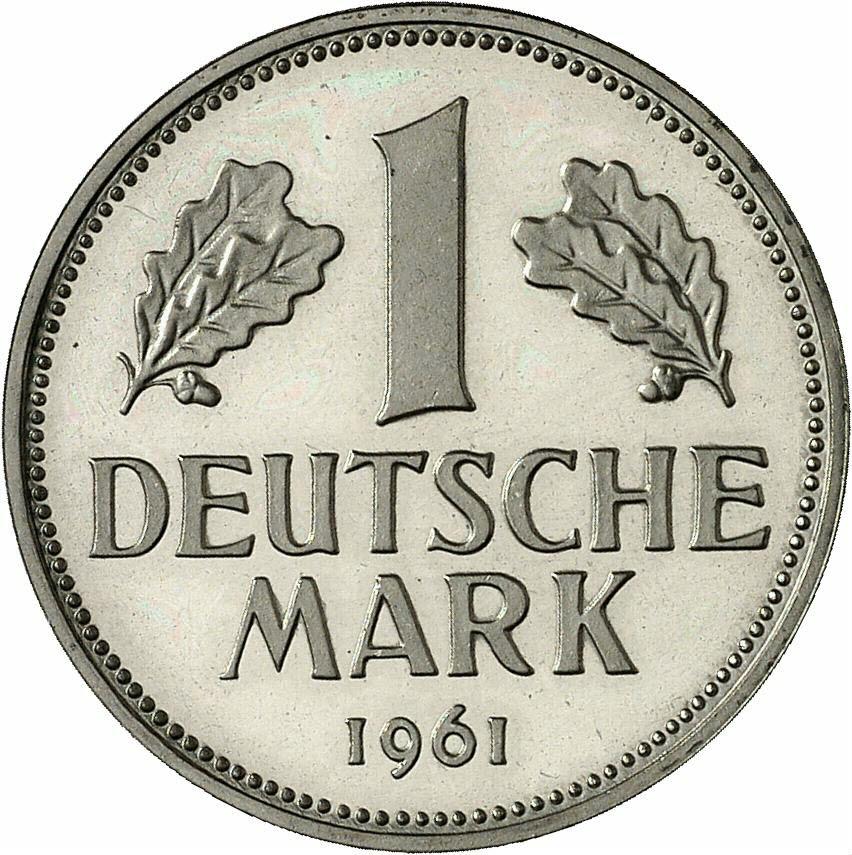 DE 1 Deutsche Mark 1961 G