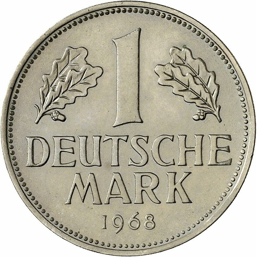 DE 1 Deutsche Mark 1968 D
