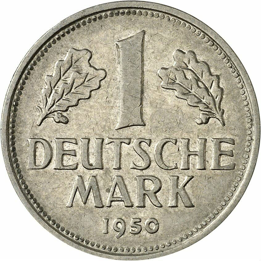 DE 1 Deutsche Mark 1950 F