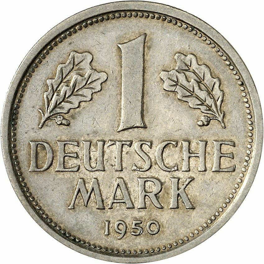 DE 1 Deutsche Mark 1950 J