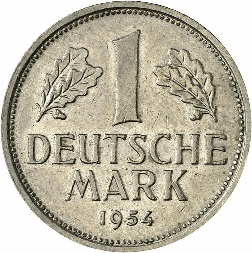 DE 1 Deutsche Mark 1954 D