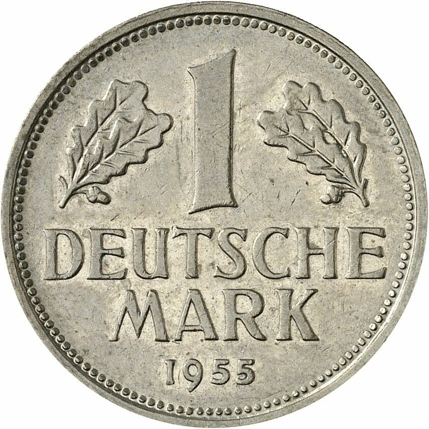 DE 1 Deutsche Mark 1955 D