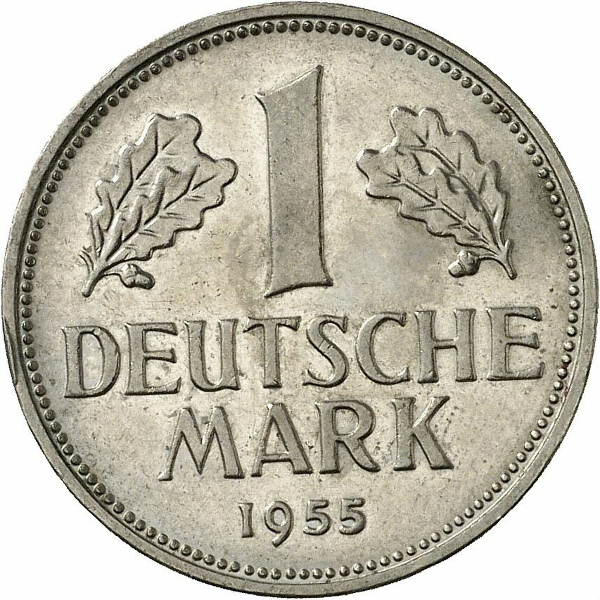 DE 1 Deutsche Mark 1955 F