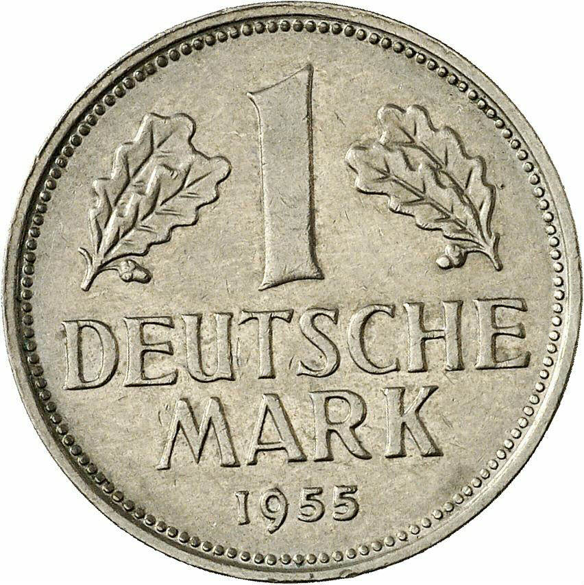 DE 1 Deutsche Mark 1955 J