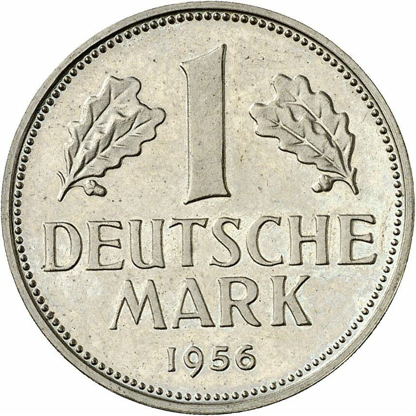DE 1 Deutsche Mark 1956 D