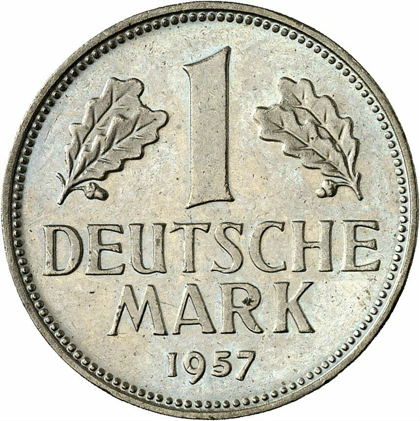 DE 1 Deutsche Mark 1957 D