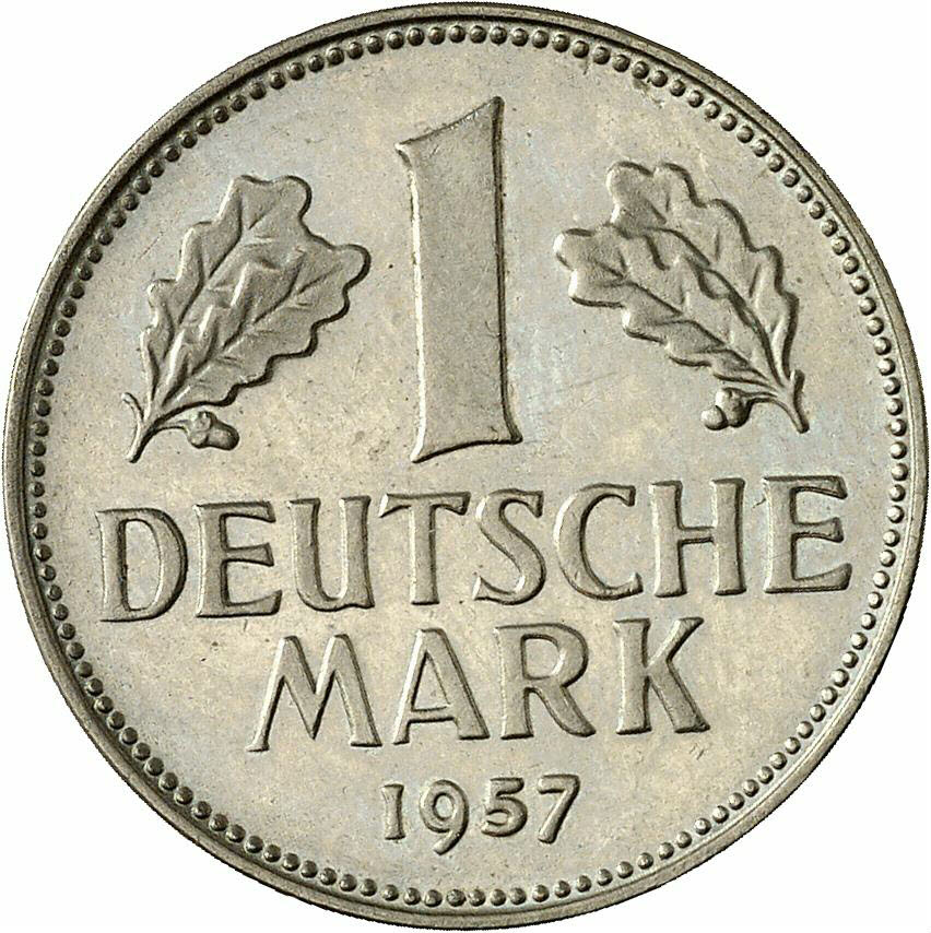 DE 1 Deutsche Mark 1957 F