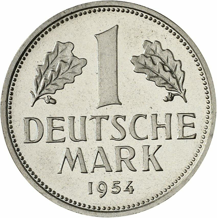 DE 1 Deutsche Mark 1954 J