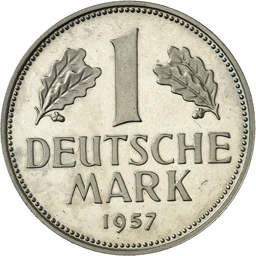 DE 1 Deutsche Mark 1957 J