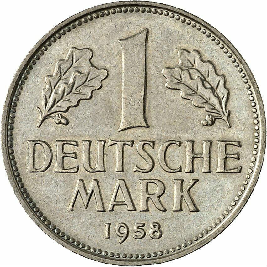 DE 1 Deutsche Mark 1958 G