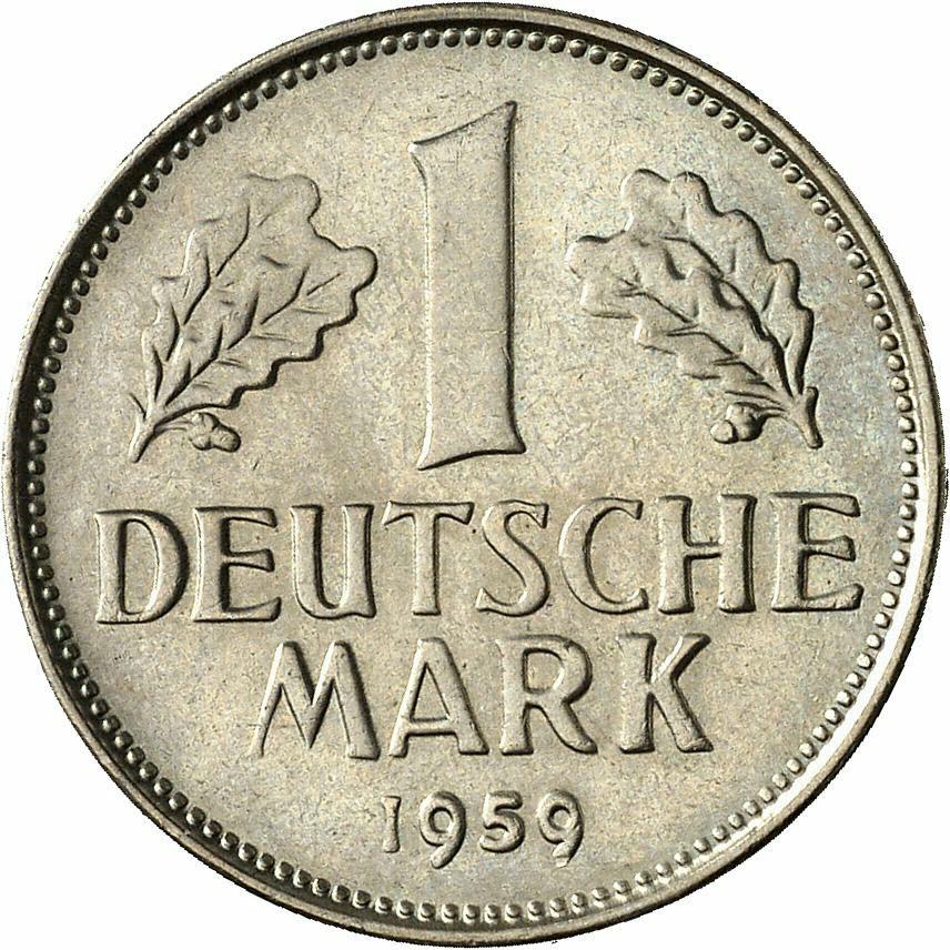 DE 1 Deutsche Mark 1959 G