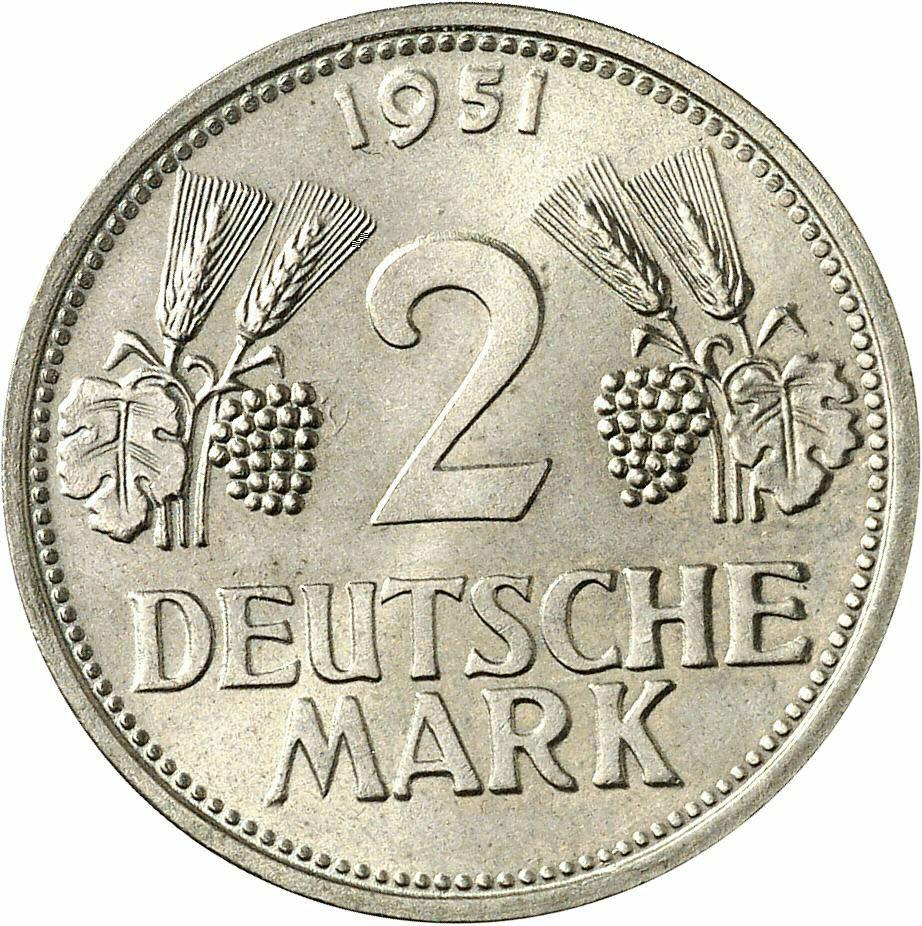 DE 2 Deutsche Mark 1951 D
