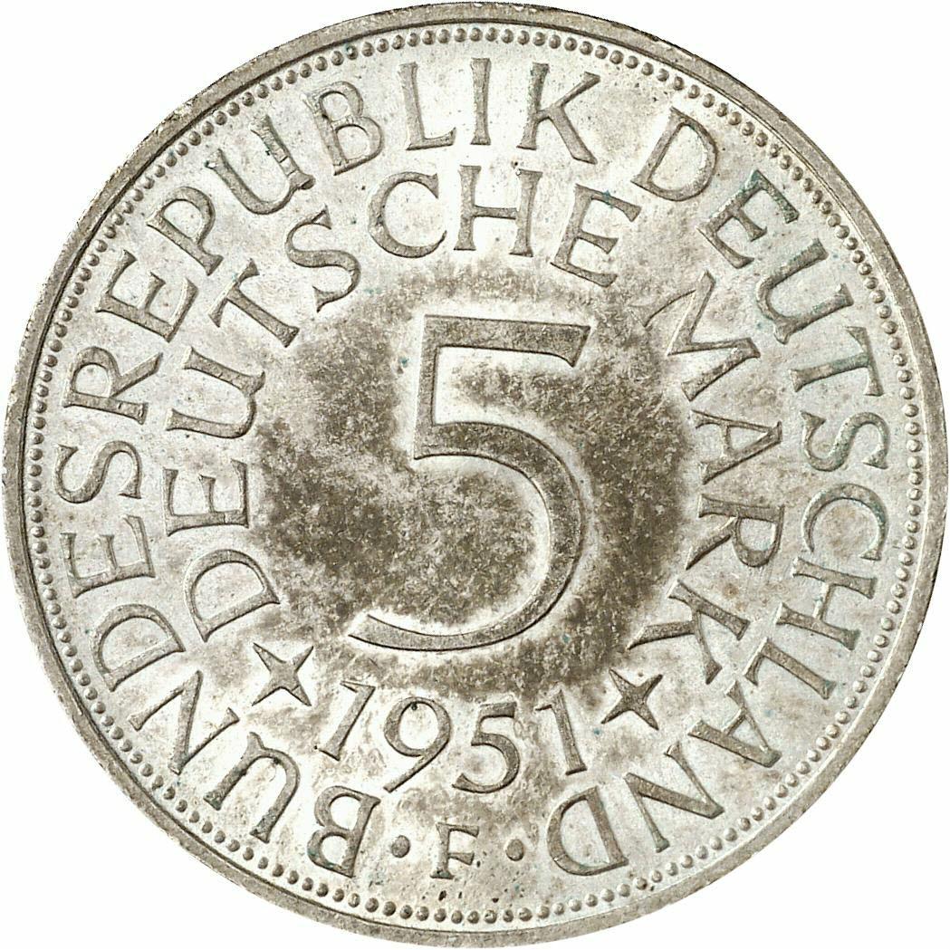 DE 5 Deutsche Mark 1951 F
