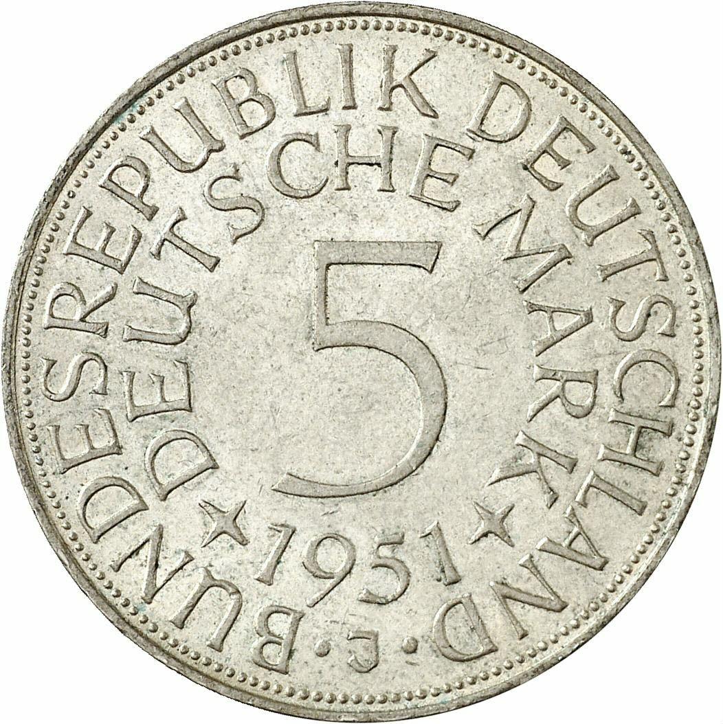 DE 5 Deutsche Mark 1951 J