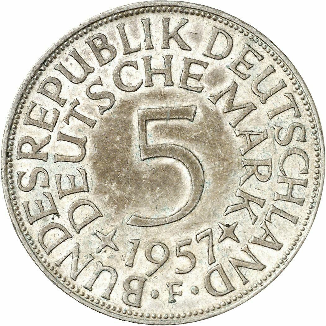 DE 5 Deutsche Mark 1957 F