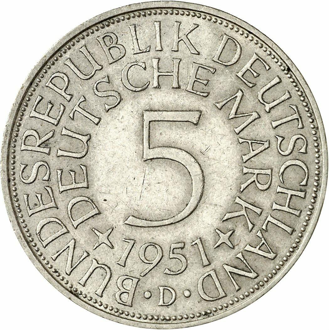 DE 5 Deutsche Mark 1951 D