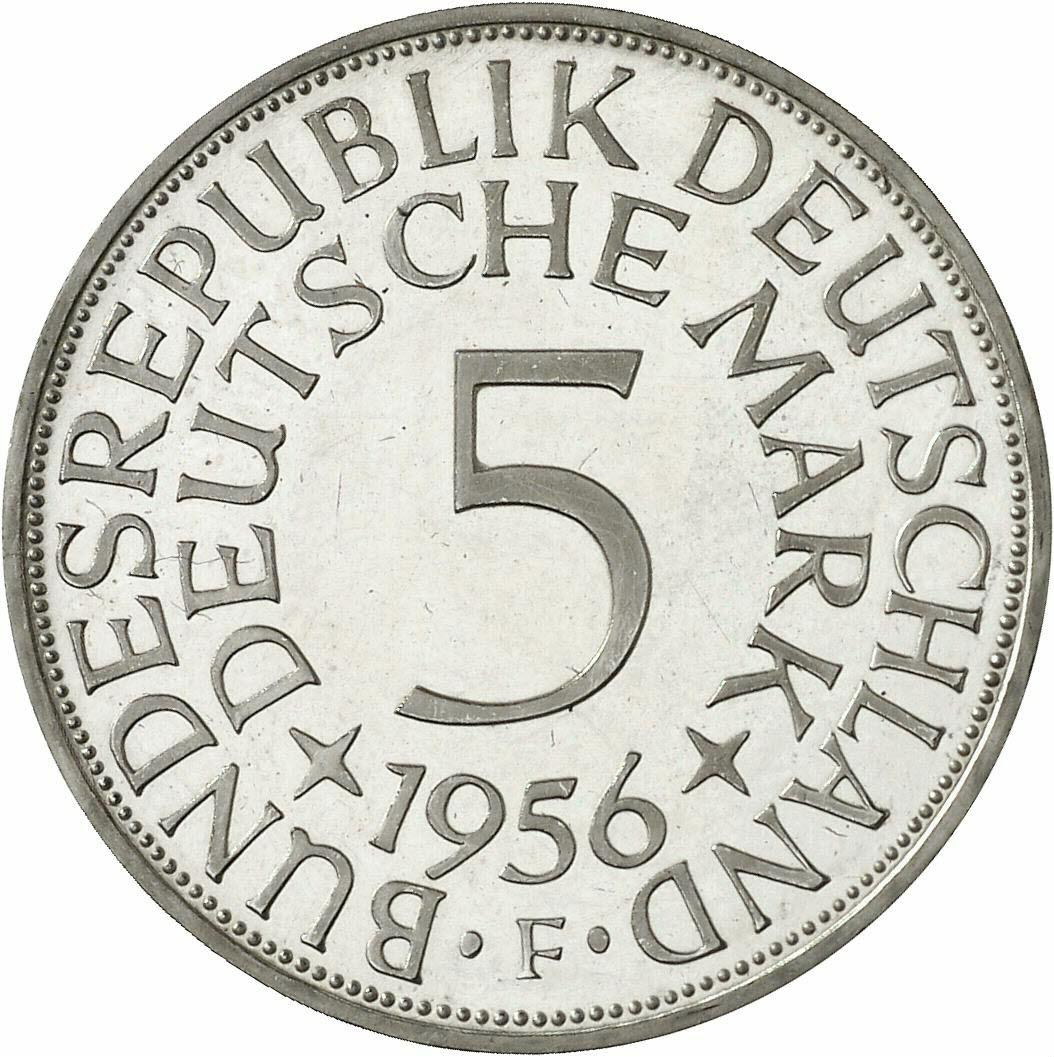 DE 5 Deutsche Mark 1956 F