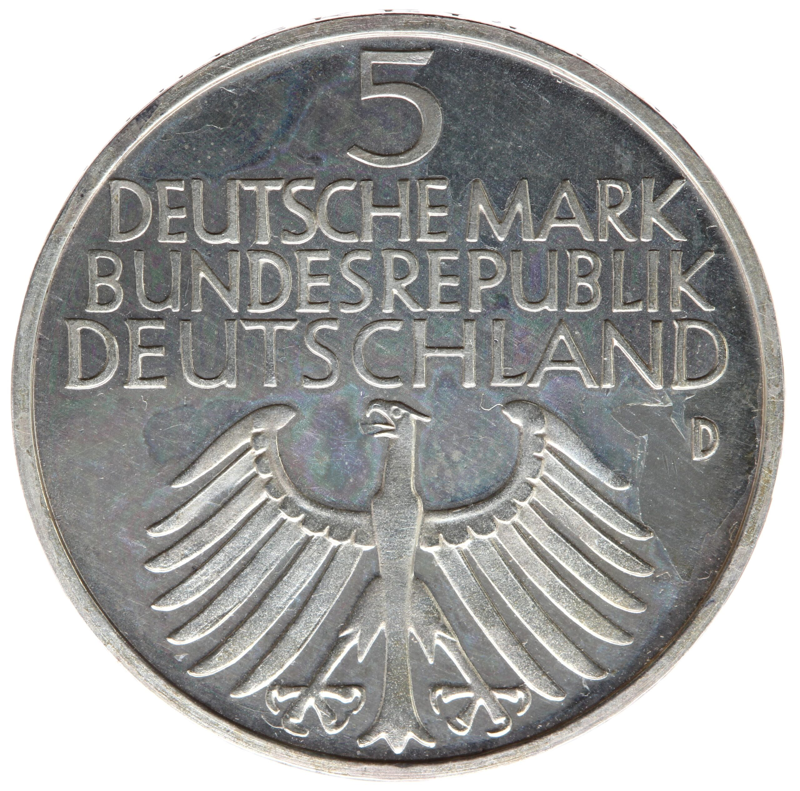 DE 5 Deutsche Mark 1952 D