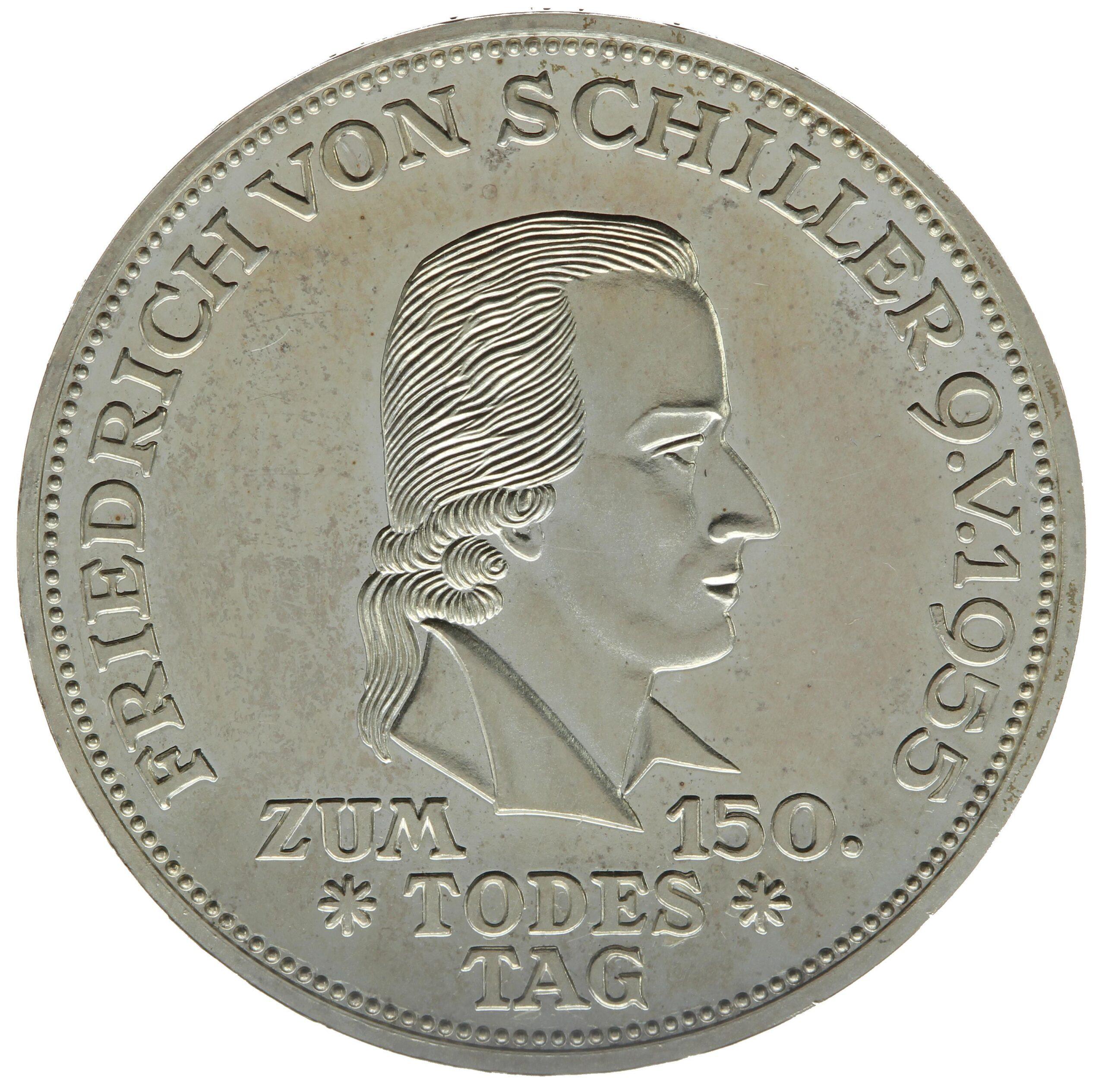 DE 5 Deutsche Mark 1955 F