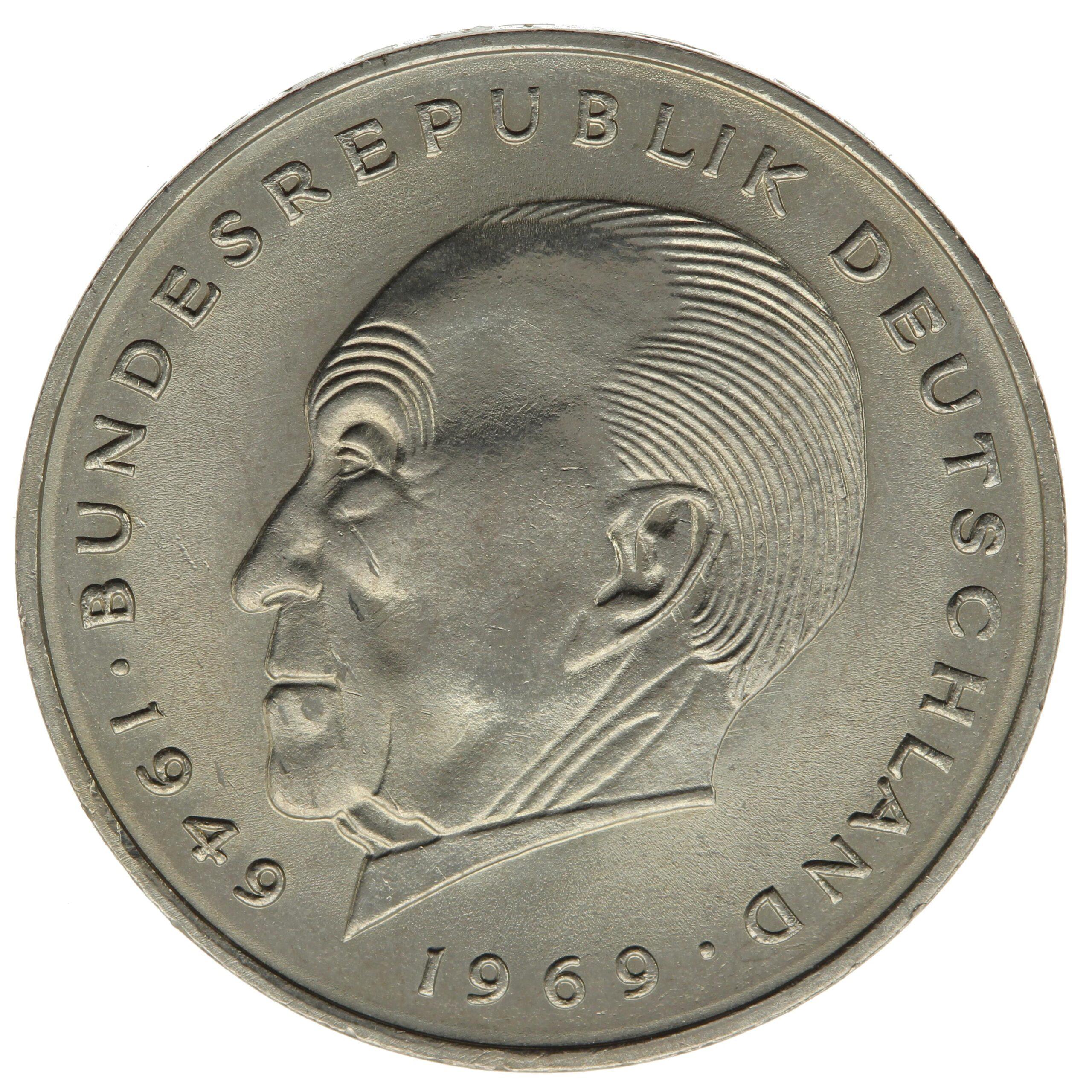 DE 2 Deutsche Mark 1969 G