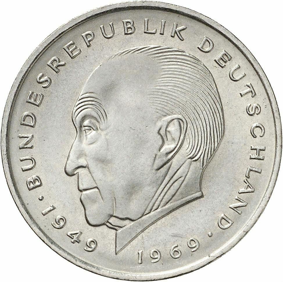 DE 2 Deutsche Mark 1969 D