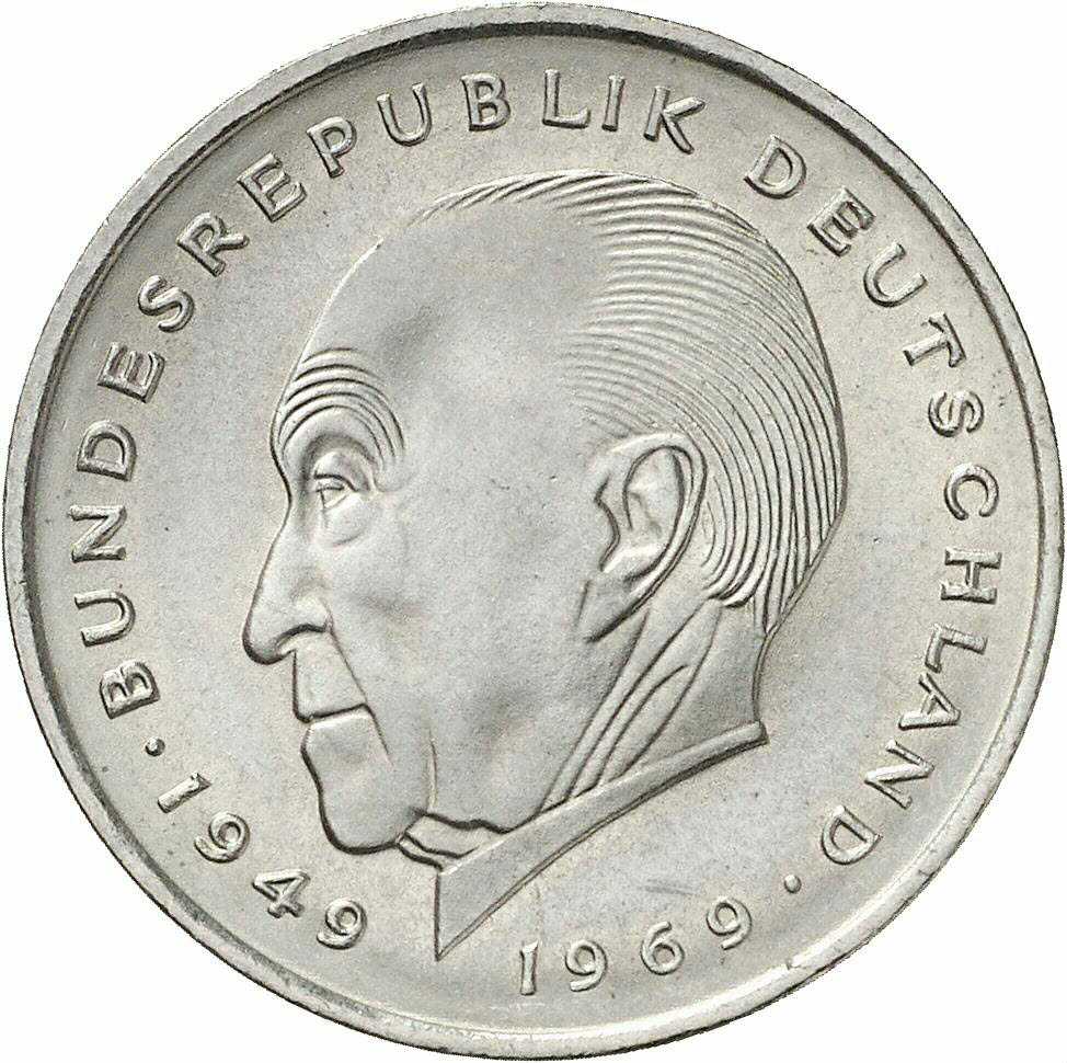 DE 2 Deutsche Mark 1969 F