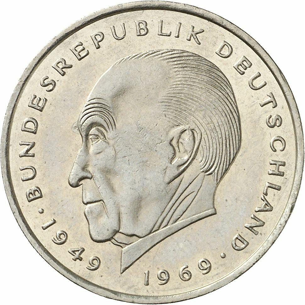 DE 2 Deutsche Mark 1970 J