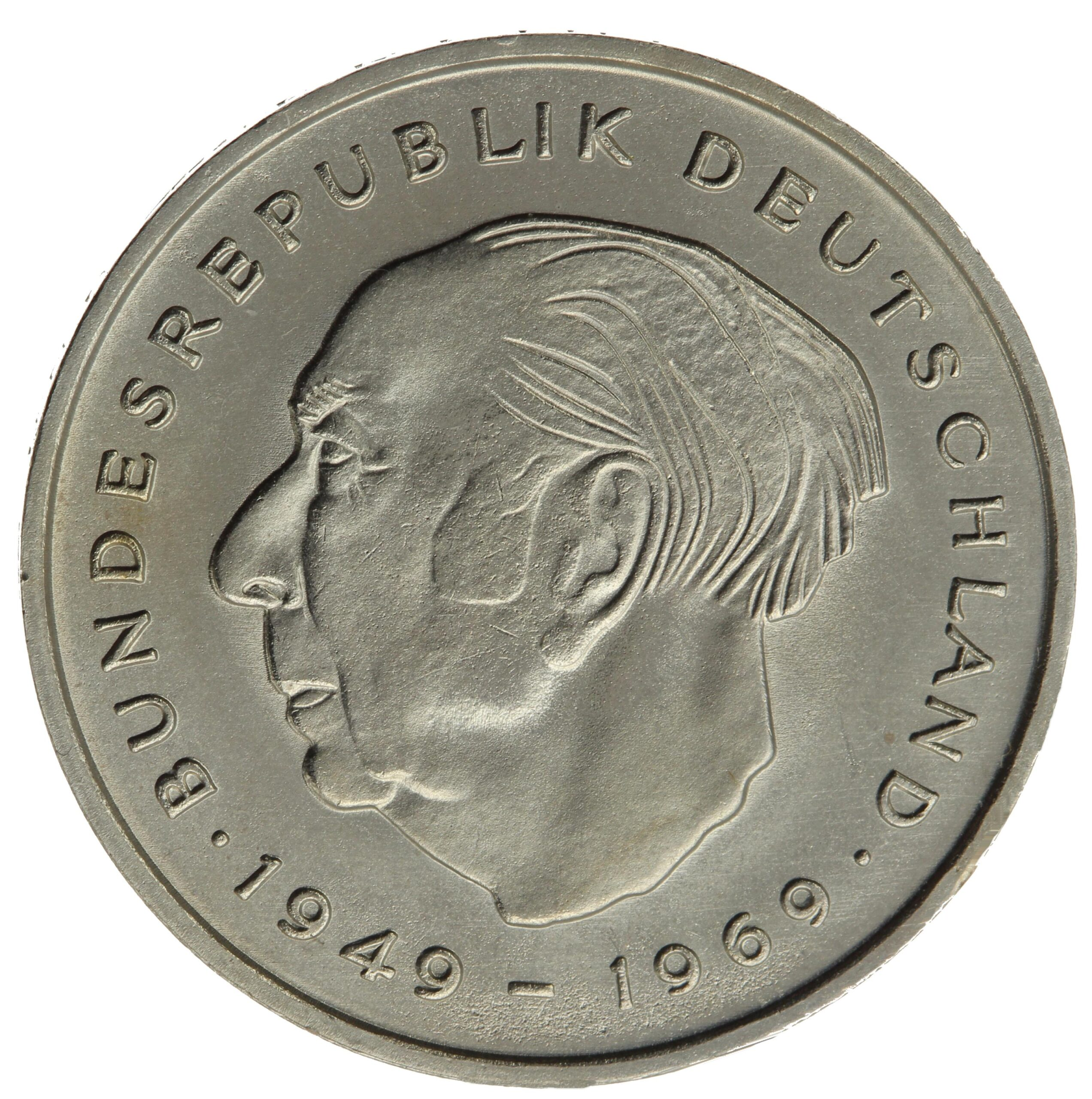 DE 2 Deutsche Mark 1970 D