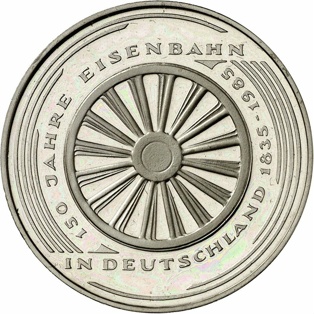 DE 5 Deutsche Mark 1985 G