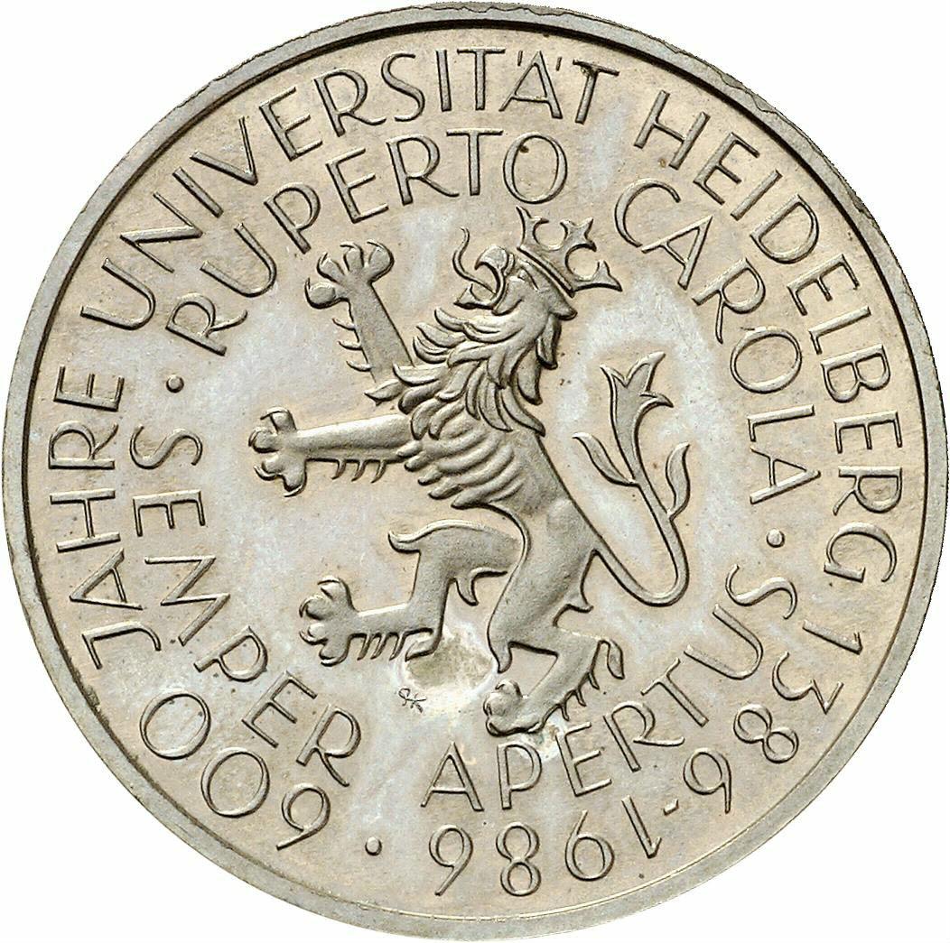 DE 5 Deutsche Mark 1986 D