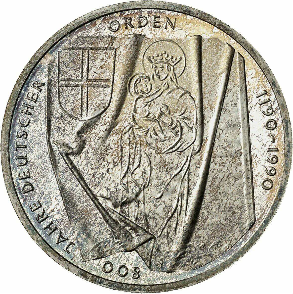 DE 10 Deutsche Mark 1990 J