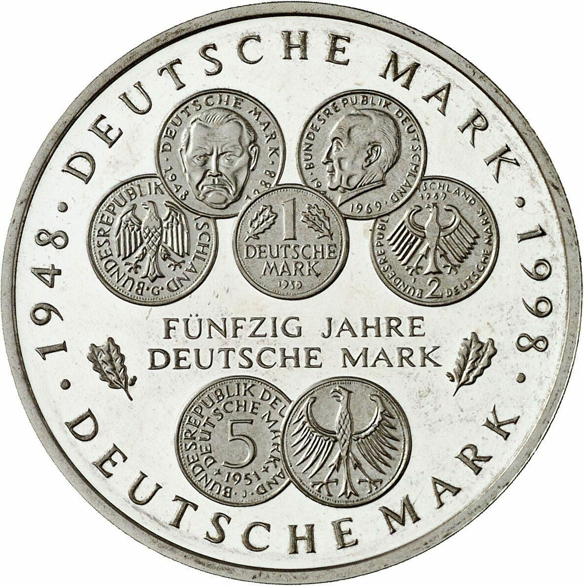DE 10 Deutsche Mark 1998 A