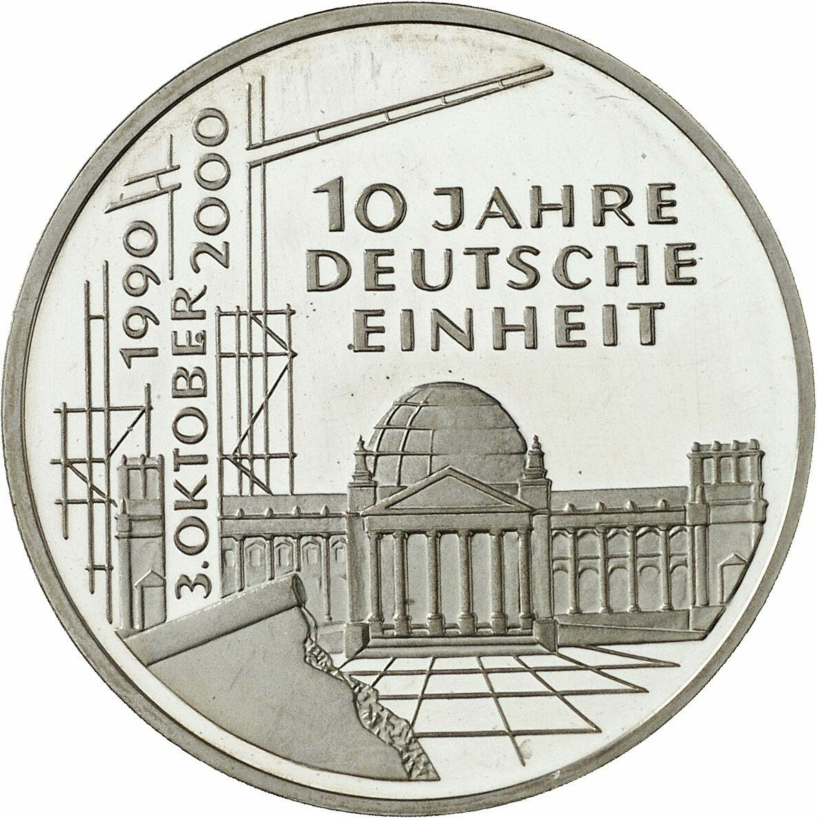 DE 10 Deutsche Mark 2000 A