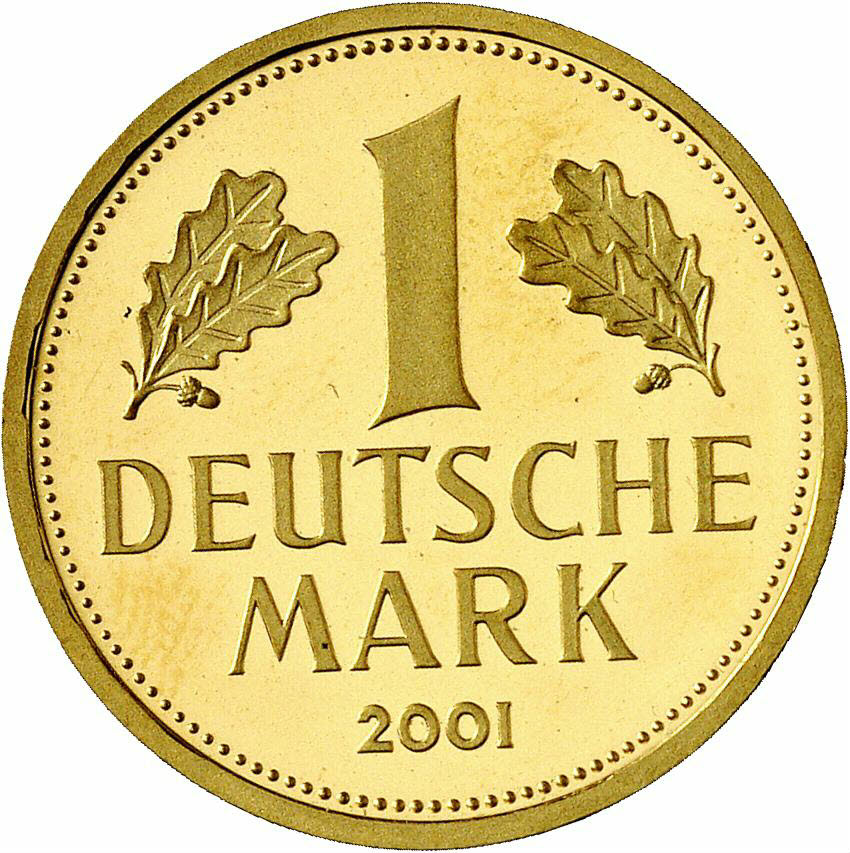 DE 1 Deutsche Mark 2001 J