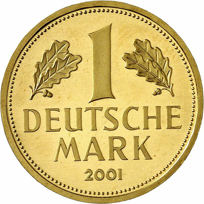 DE 1 Deutsche Mark 2001 A