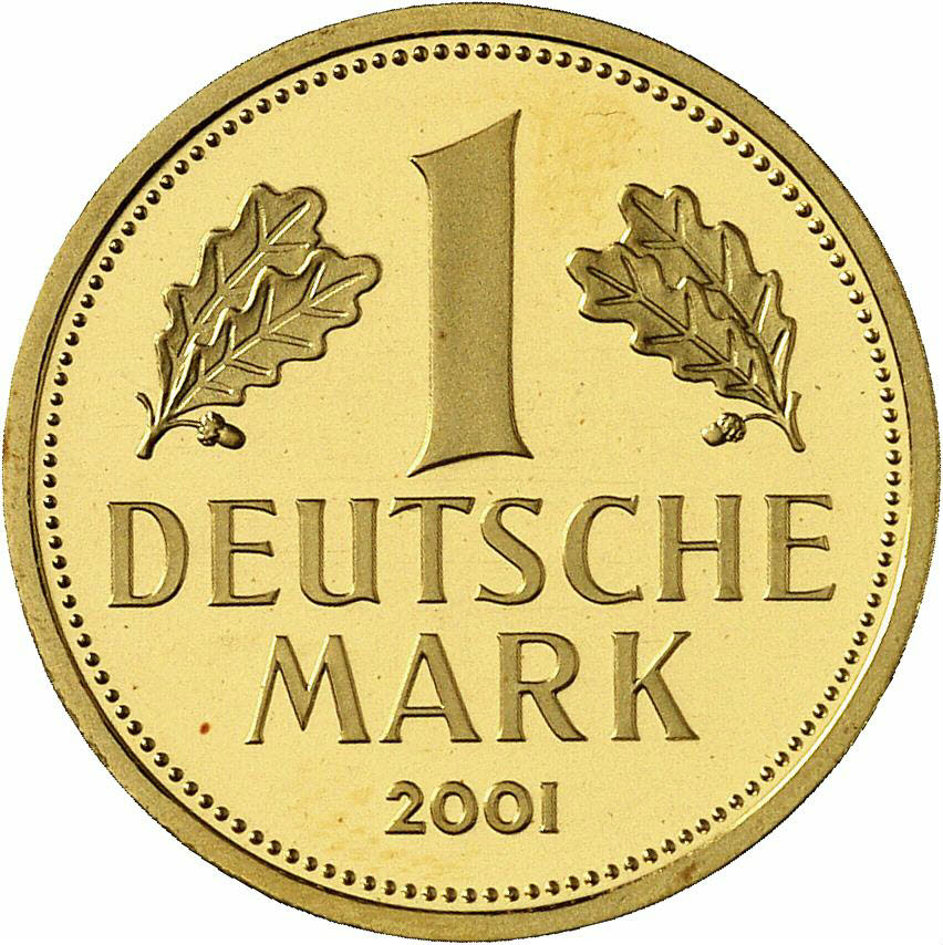 DE 1 Deutsche Mark 2001 D