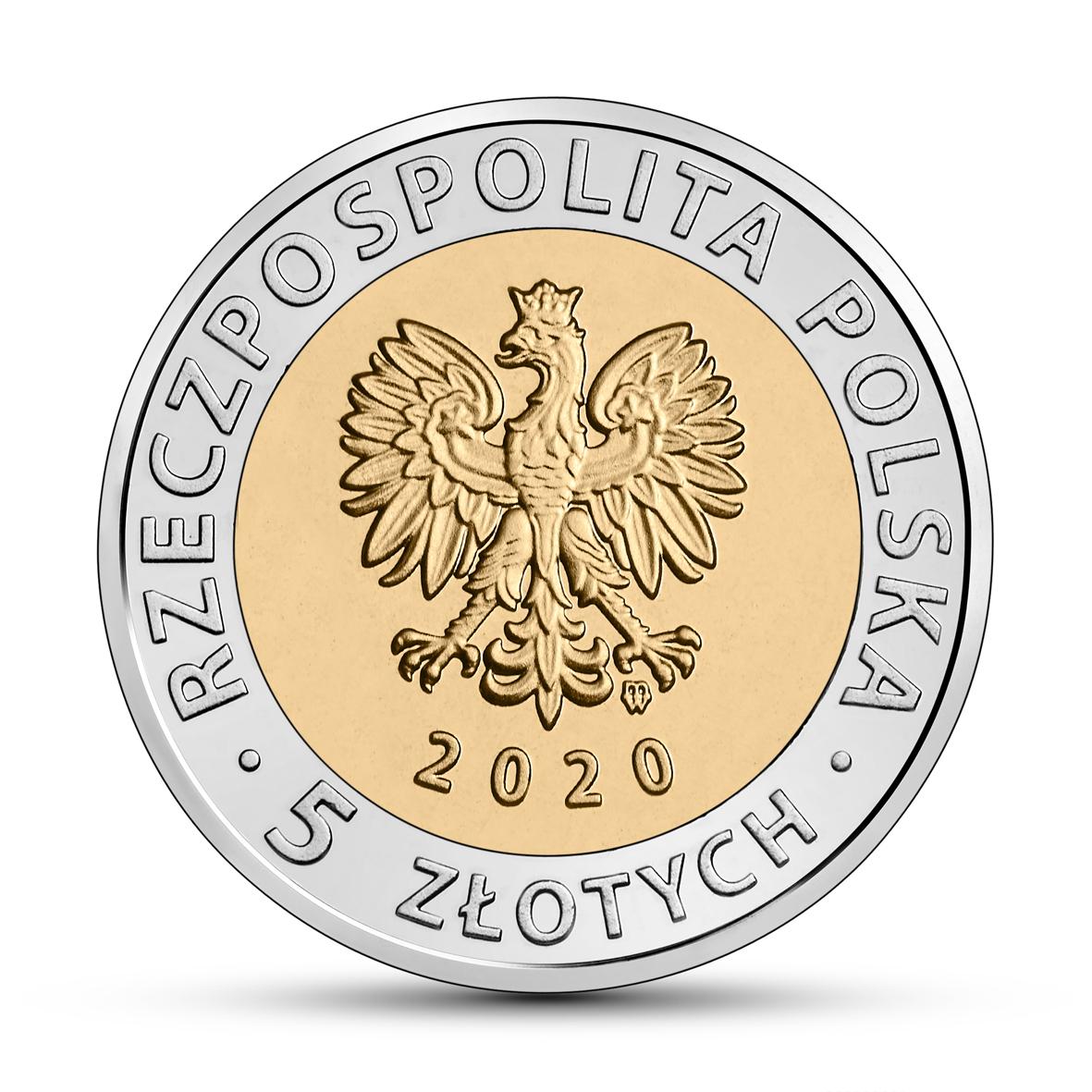 PL 5 Zloty 2020 monogram MW