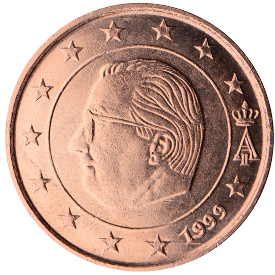 BE 5 Cent 2000 Angel's Head