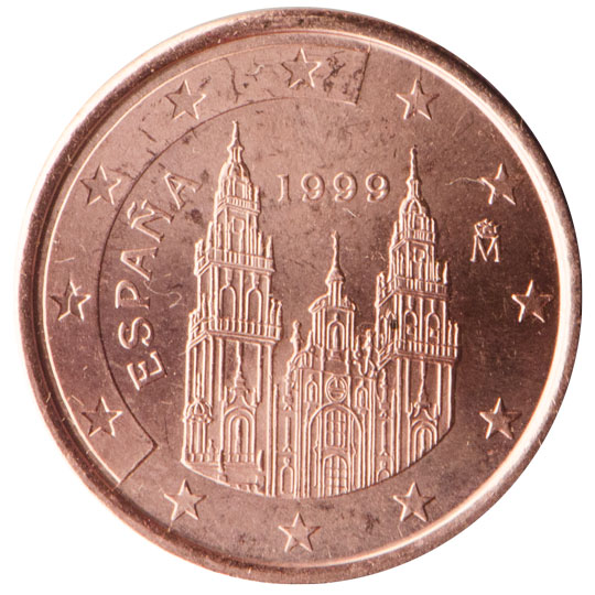 ES 1 Cent 1999 Real Casa de la Moneda Logo
