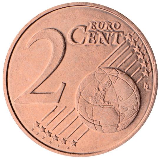 LT 2 Cent 2015 Lithuanian Mint Logo