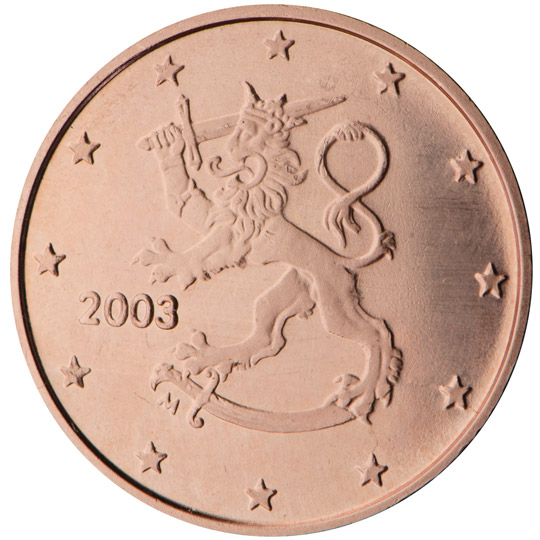FI 1 Cent 2014 Lion