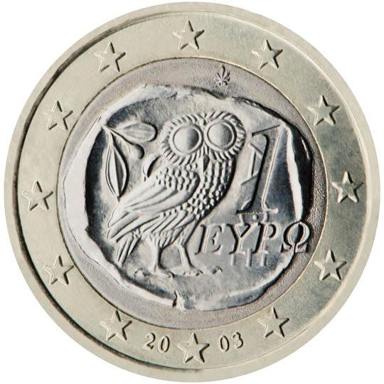 GR 1 Euro 2002 Palmette; FI