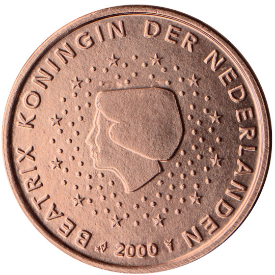 NL 1 Cent 2000 Staff of Mercury