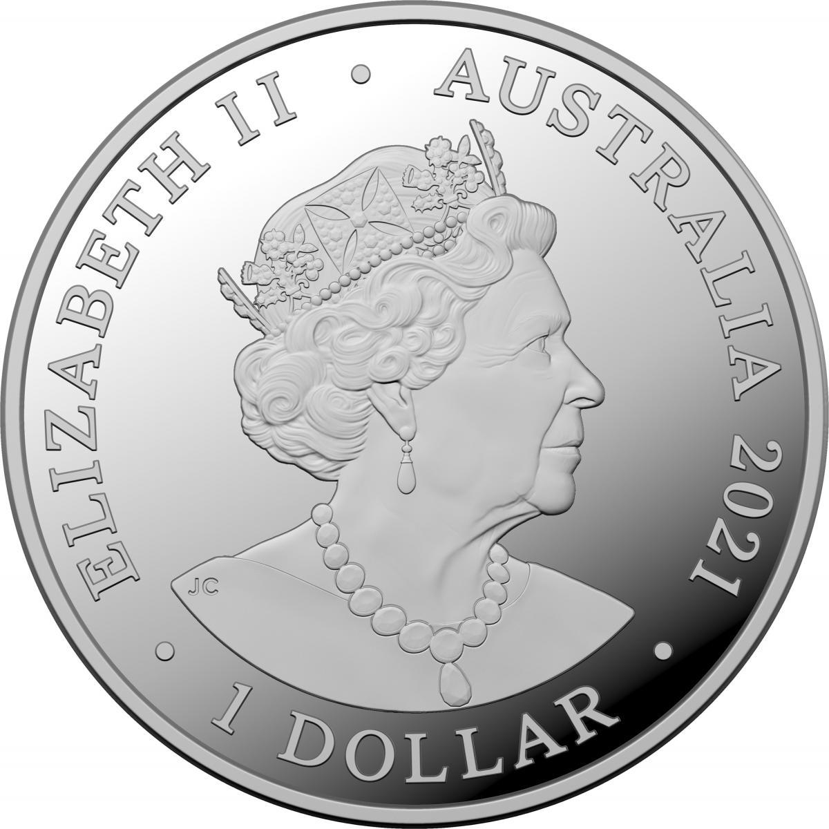 AU 1 Dollar 2021 C