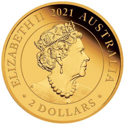 AU 2 Dollars 2021 P