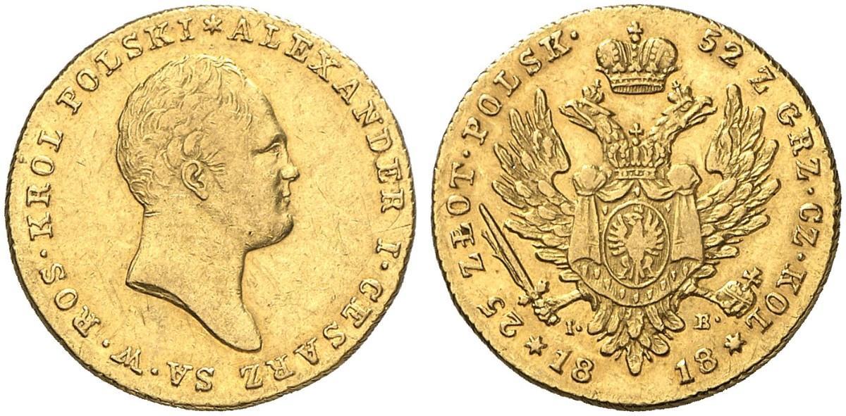 PL 25 Zloty 1818