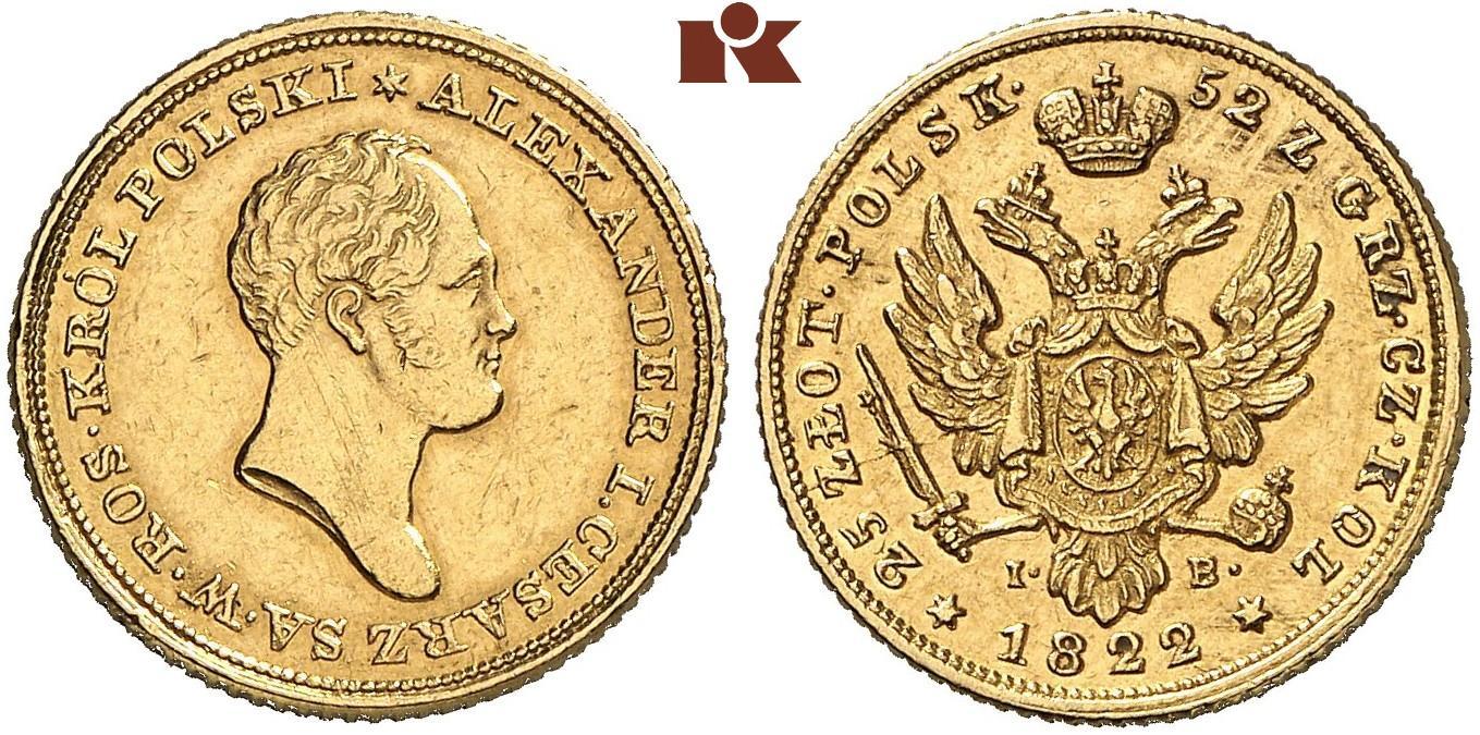 PL 25 Zloty 1822