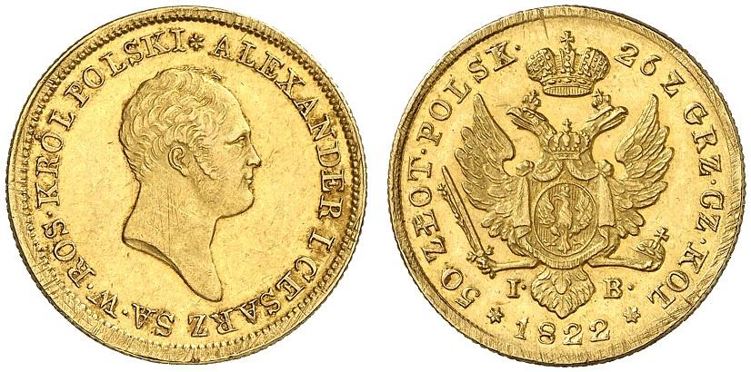 PL 50 Zloty 1822